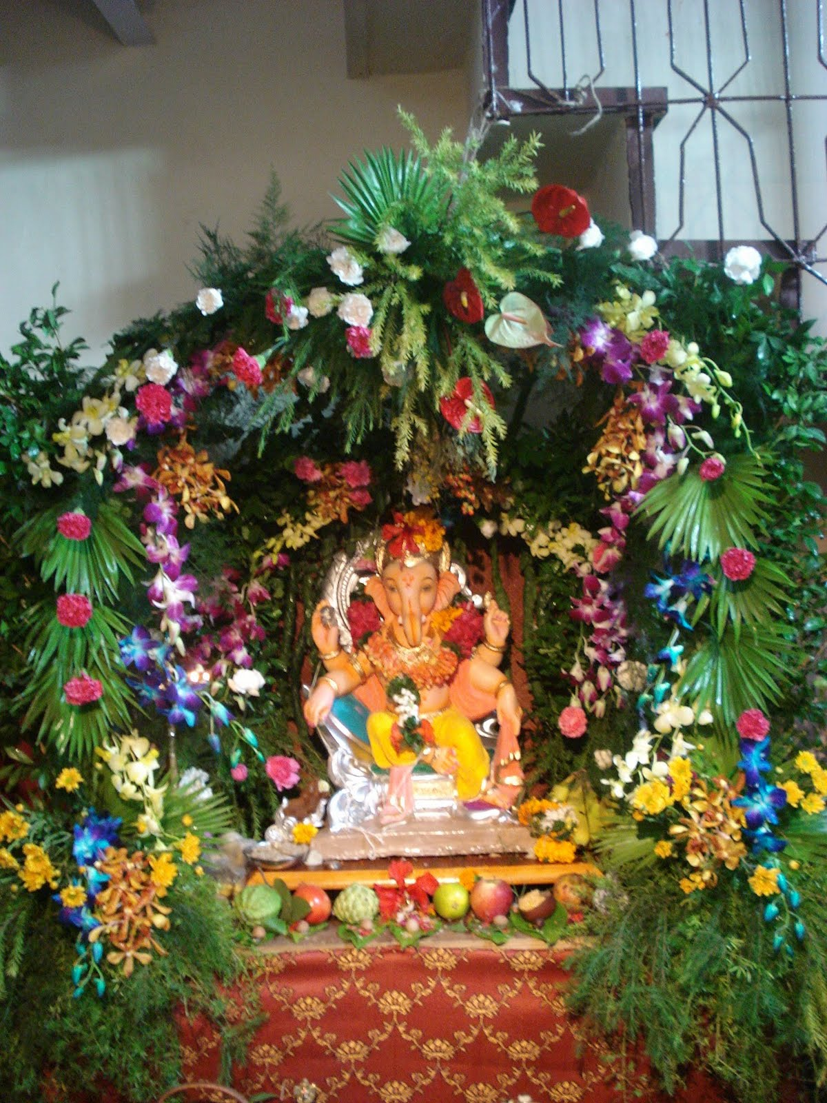 Eco friendly ganpati decoration for home joy studio for Decoration ganpati