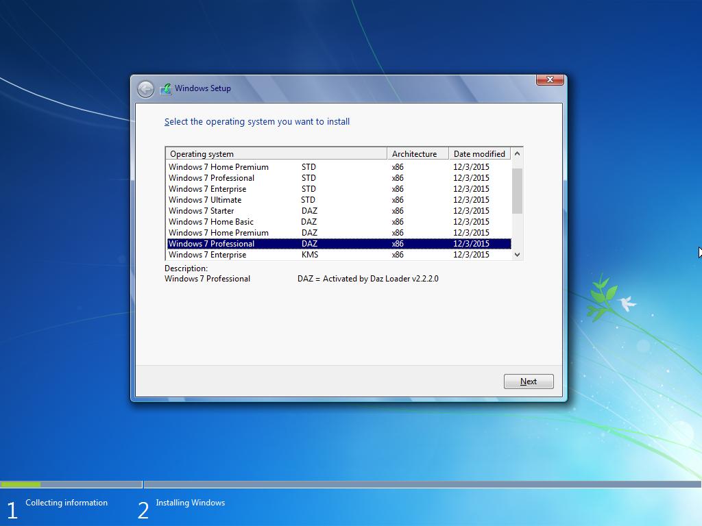 windows 7 loader activator by daz 1.9.7