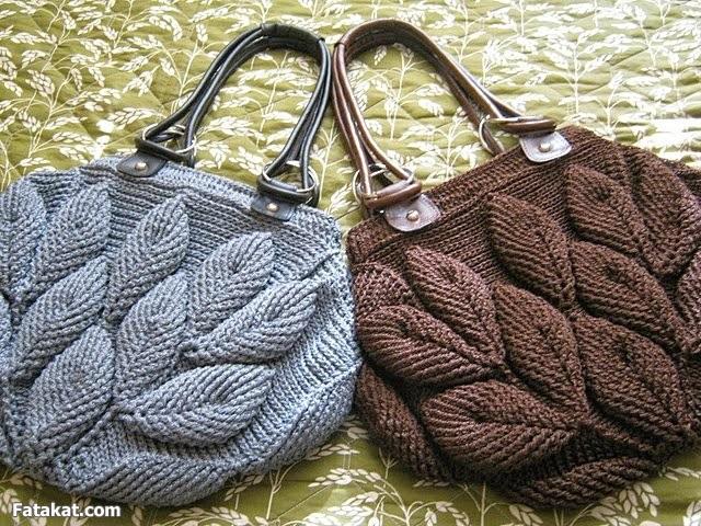 Entretejida: Bolso de hojas a crochet - Patròn