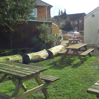The Railway pub garden Ringwood