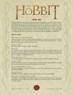 Warner Brothers' explanation of 48fps technology in The Hobbit