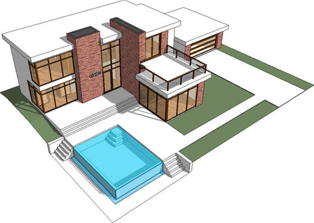 Dise os de casas e interiores planos de casa moderna for Plano de casa quinta moderna
