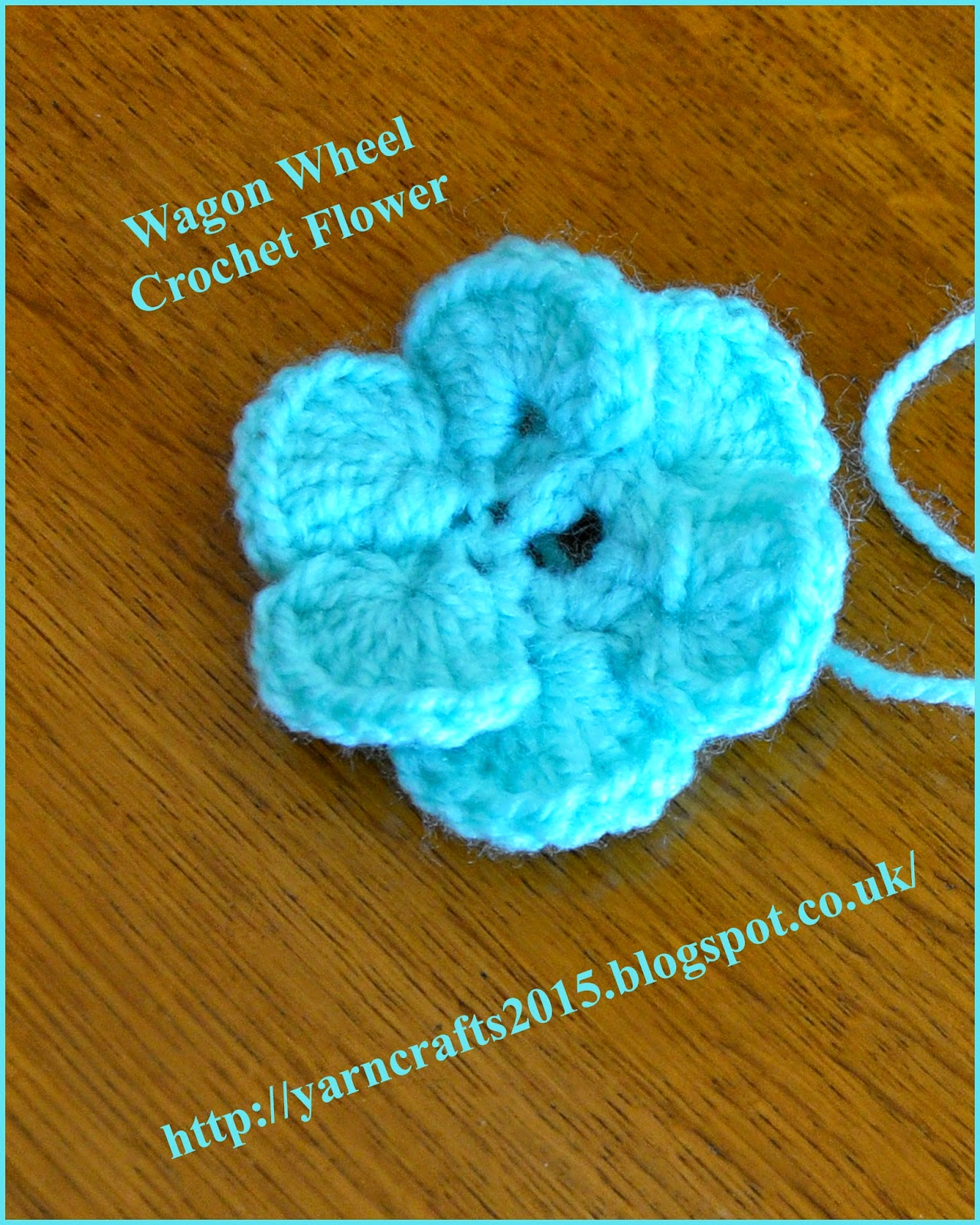 how to crochet a wagon wheel flower