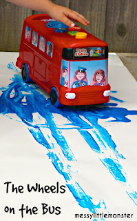 Wheels on the bus process art