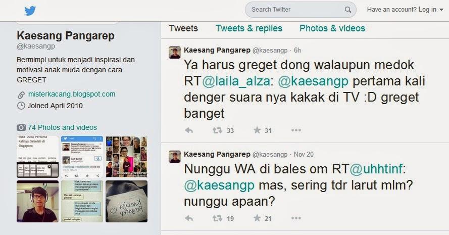 Twitter Kaesang Pangarep @kaesangp