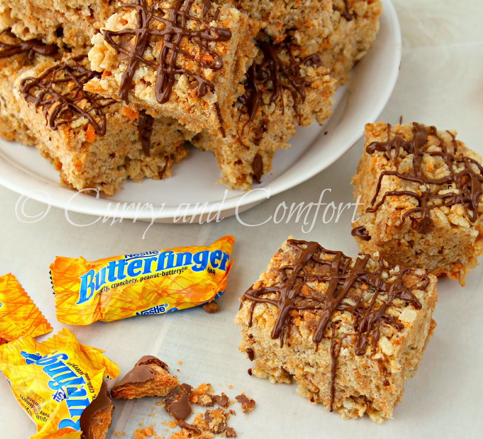 Kitchen Simmer: Butterfinger Rice Krispies Treats- Halloween Week