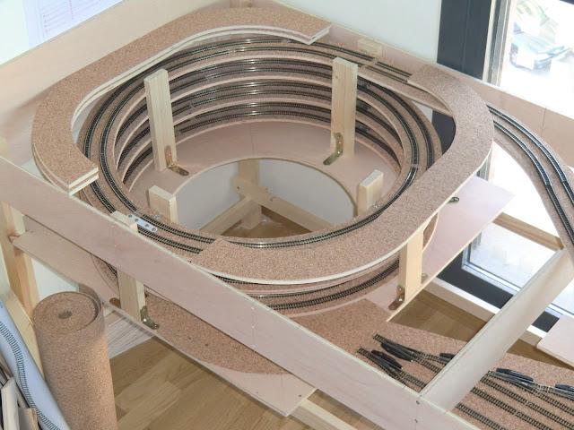 maqueta nivel 3 construcción escala N