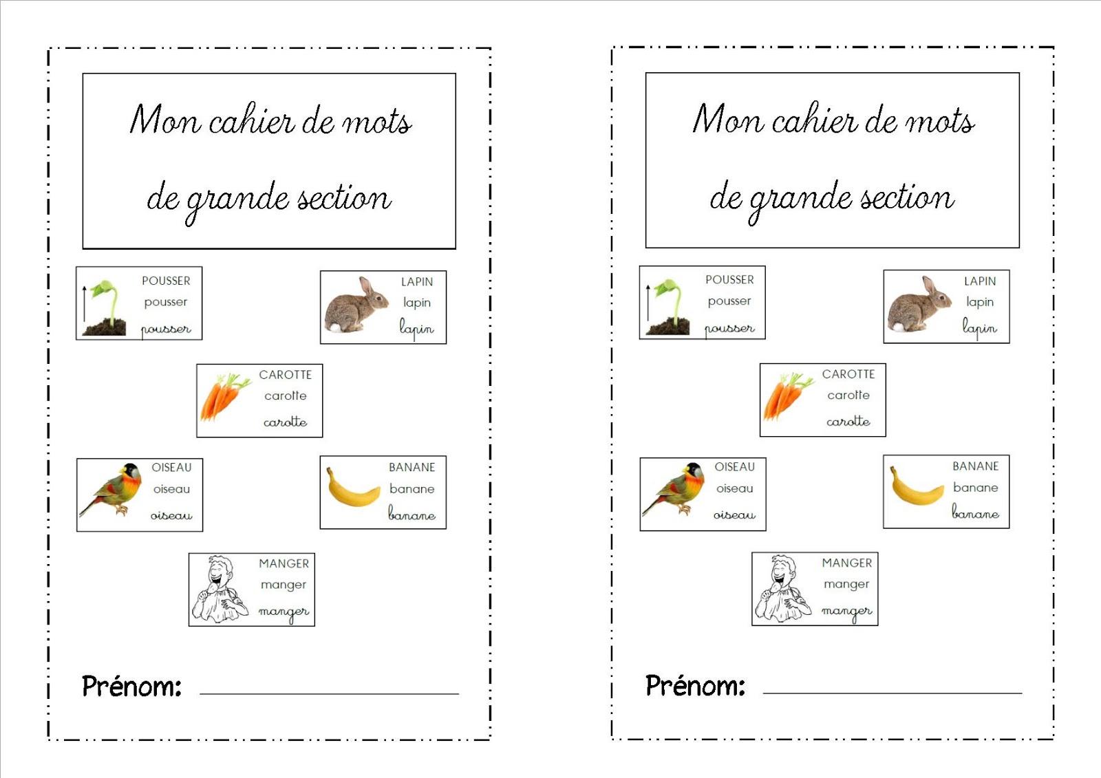 Top La maternelle de Laurène: Cahier de mots XO98