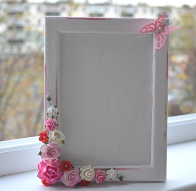 Фото как украсить рамку для фото своими руками