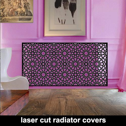 Laser cut metal radiator covers