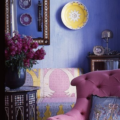 moroccan bedroom gold purple August 2011 - House Furniture