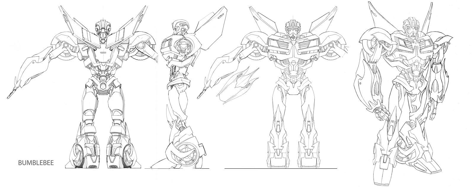 augusto barranco transformers prime bumblebee orthographic design
