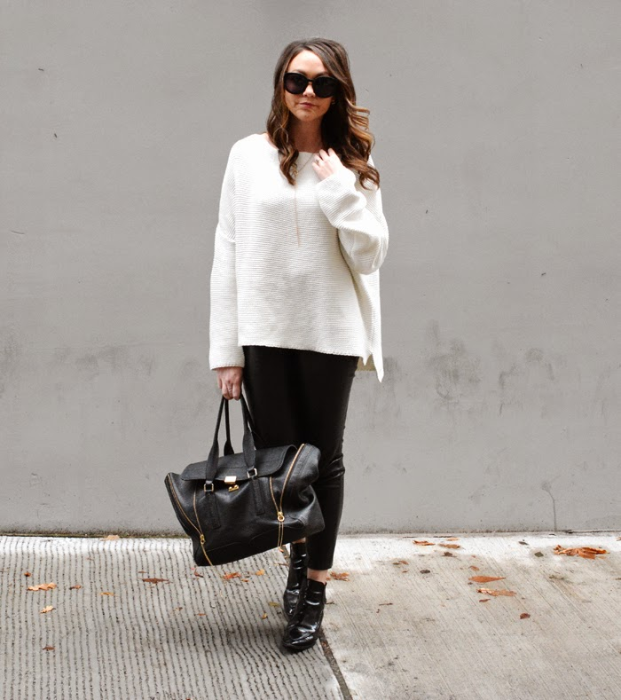 A Type Of Style | Zara Oversized White Sweater