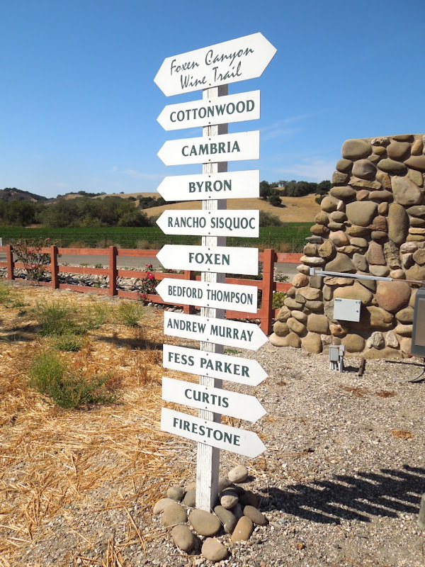 Foxen Canyon Wine Trail sign