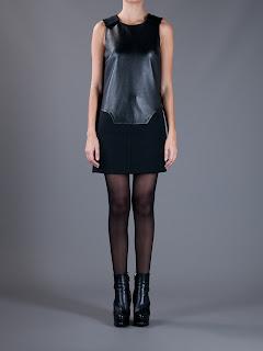 deri elbise modeli, kısa dar, ve şık