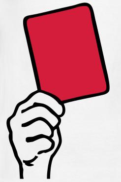 tarjeta roja partidos televisados