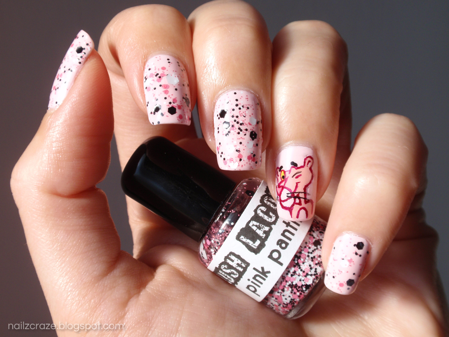 Lush Lacquer - Pink Panther Macro Shot - The Pink Panther Nail Art - Nailz Craze