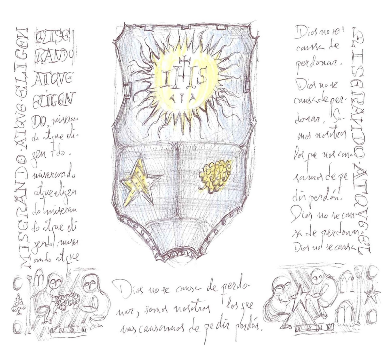 blog del padre Fortea: Una versión artística del escudo papal