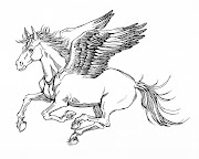 Winged Horse. Getting tattoo design commissions pouring in at the moment.