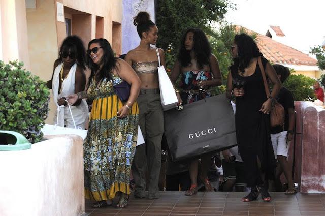 Rihanna – Candids in Porto Cervo