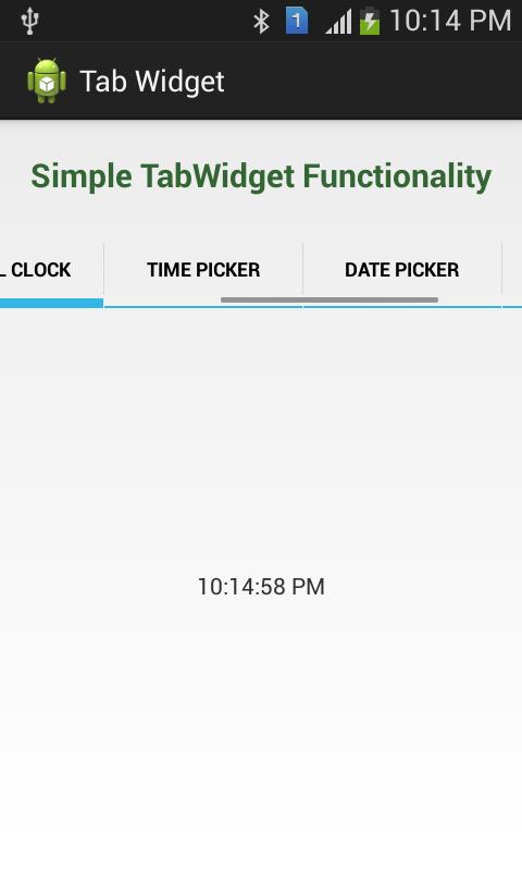 TabWidget Functionality