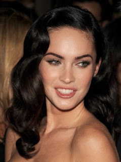 Megan Fox Long Wavy Curly Hairstyle