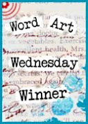 I WON OVER AT WORD ART WEDNESDAY WITH MY SHAMROCK CARD!