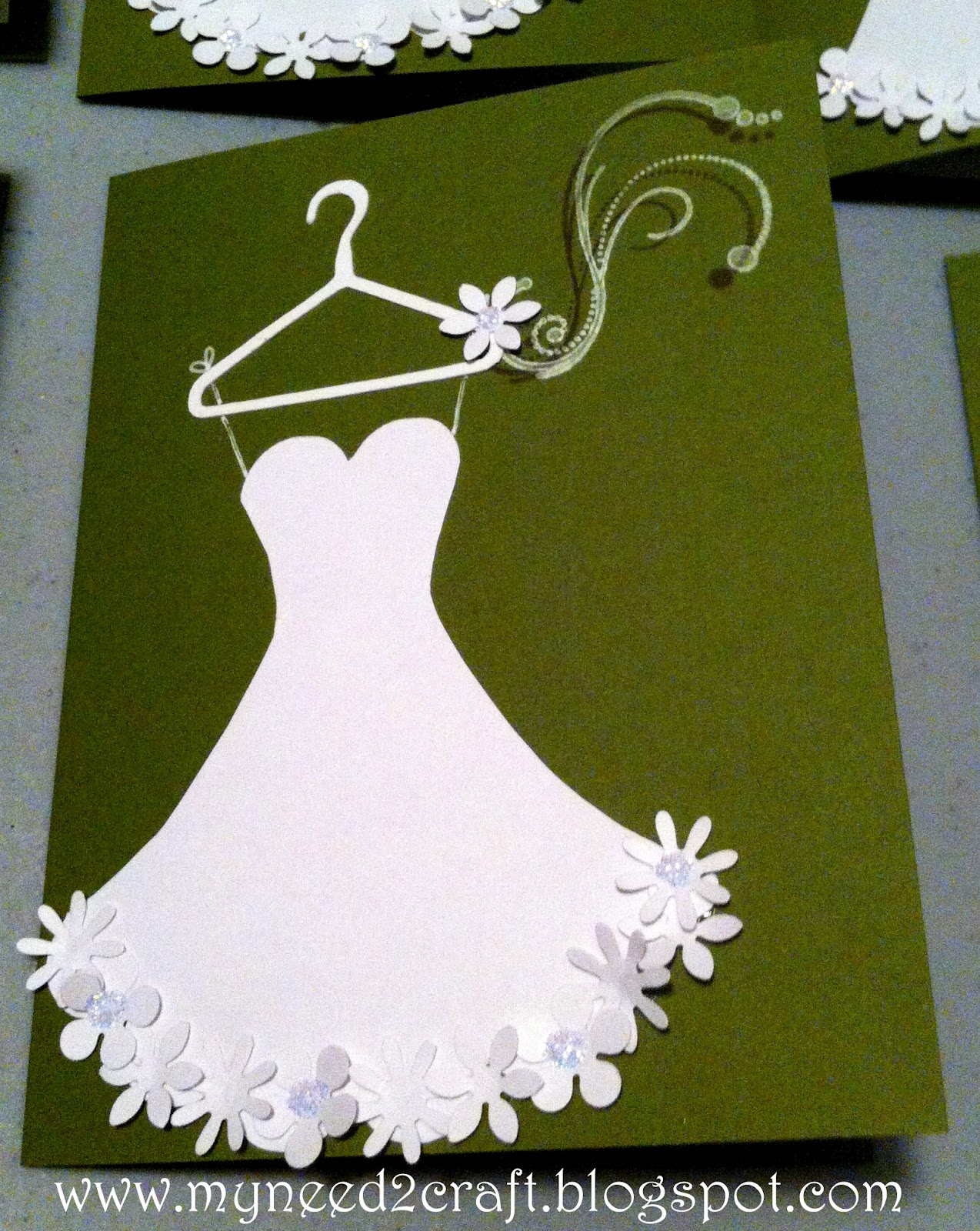 Myneed2craft by terri deavers bridal shower luncheon for Card for wedding shower