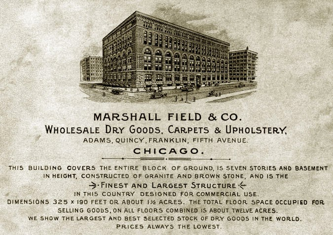 an overview of the popular marshal field wholesale store in the us
