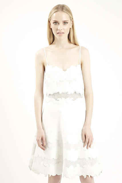 white applique dress, white limited edition dress topshop,