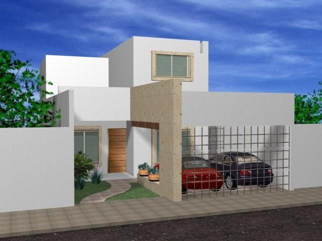 Decoraci n minimalista y contempor nea fachadas for Casa minimalista roja