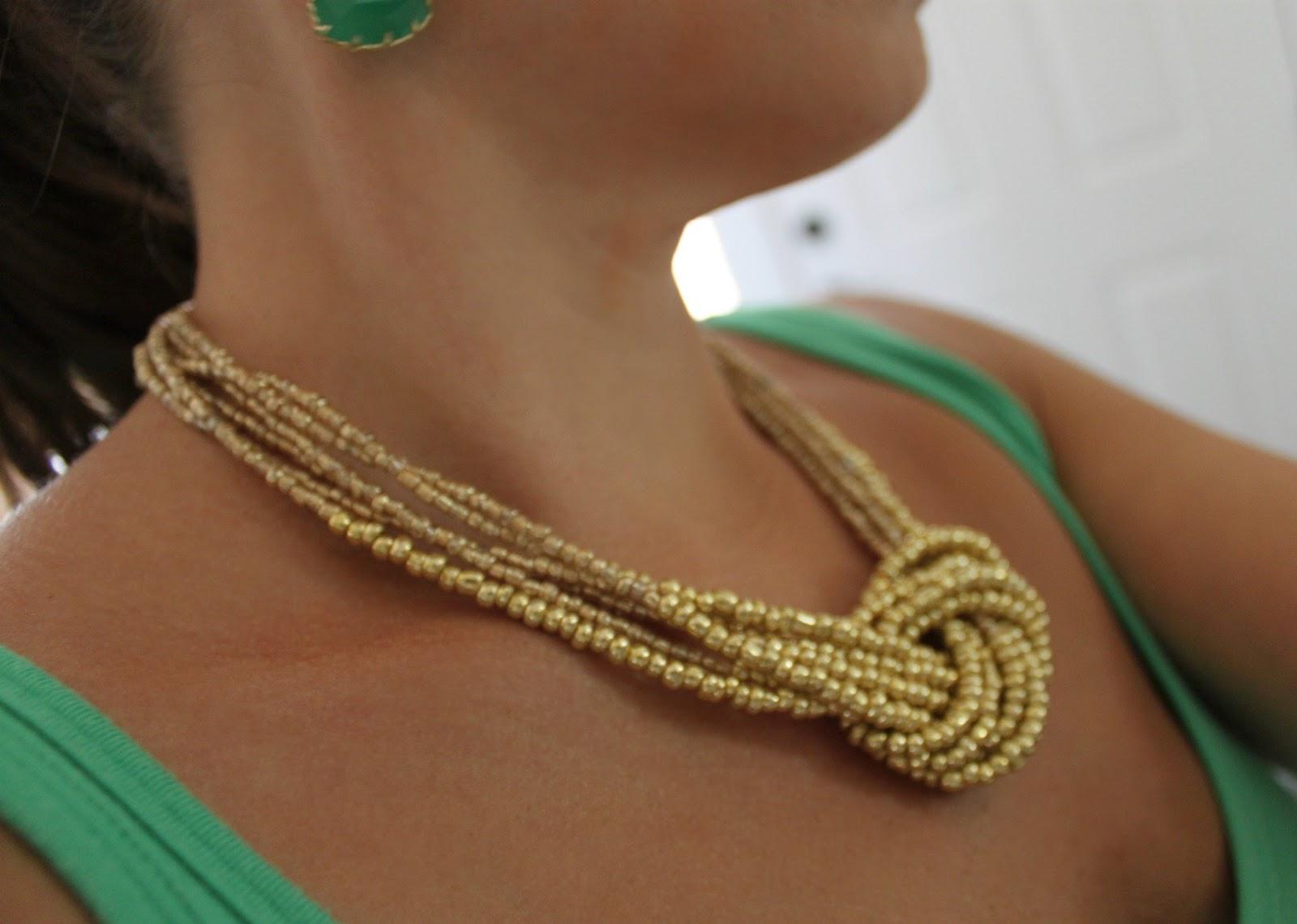 Statement Necklace Part I - Golden Knot Necklace
