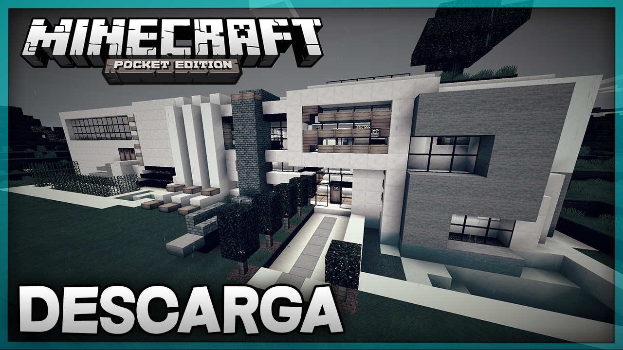 Descarga casa moderna para minecraft pe super casa 2 for Casa moderna en minecraft pe
