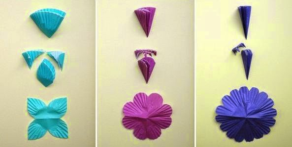 Cara Membuat Kerajinan Tangan Dari Kertas - Lampu Bunga Kertas 3