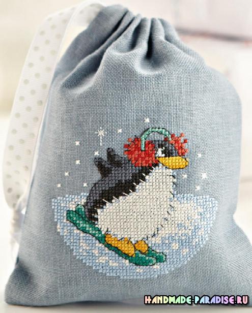 Схема вышивки пингвина