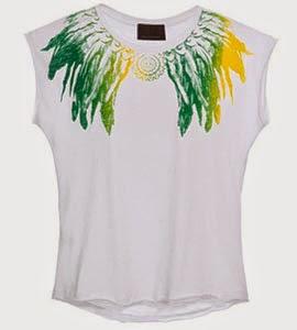 camiseta feminina Copa Brasil Andrea Bogosian