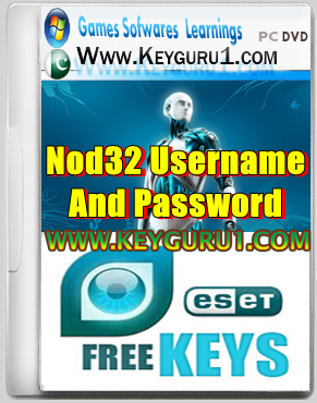 NOD32 Passwords and Usernames Update 13 September 2013