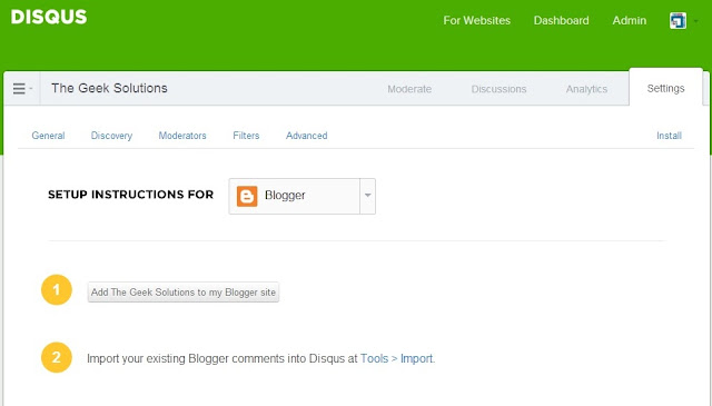 add disqus widget on blogger blog