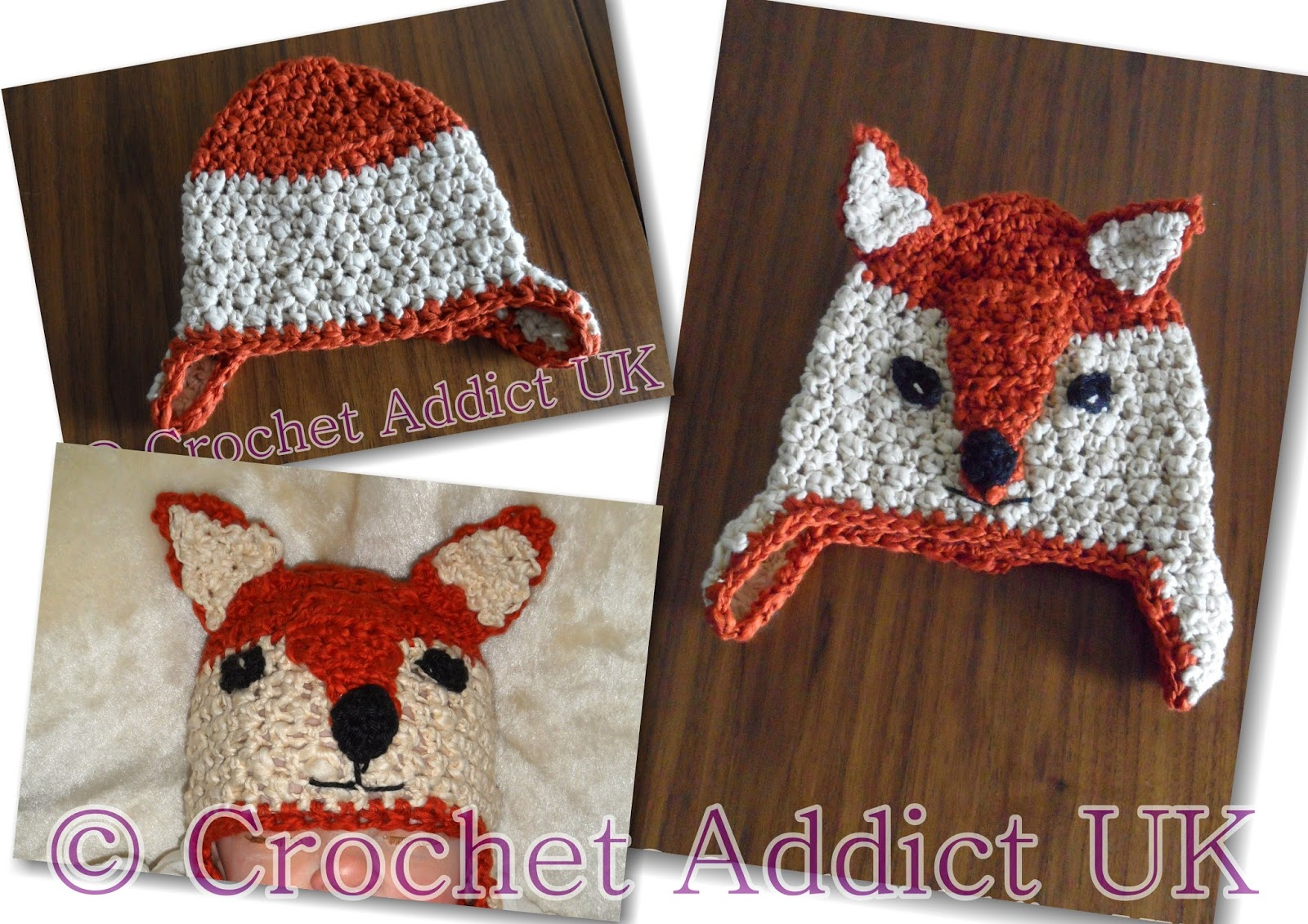Crochet Fox Hat Pattern Free Custom Decorating Design