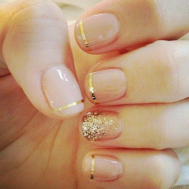 Golden Nails Designs