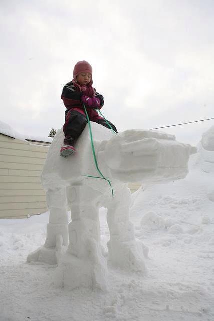 Menudo muñeco de nieve más molón a lo Star Wars