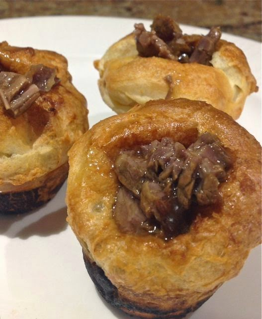 Mini Yorkshire pudding & beef filling