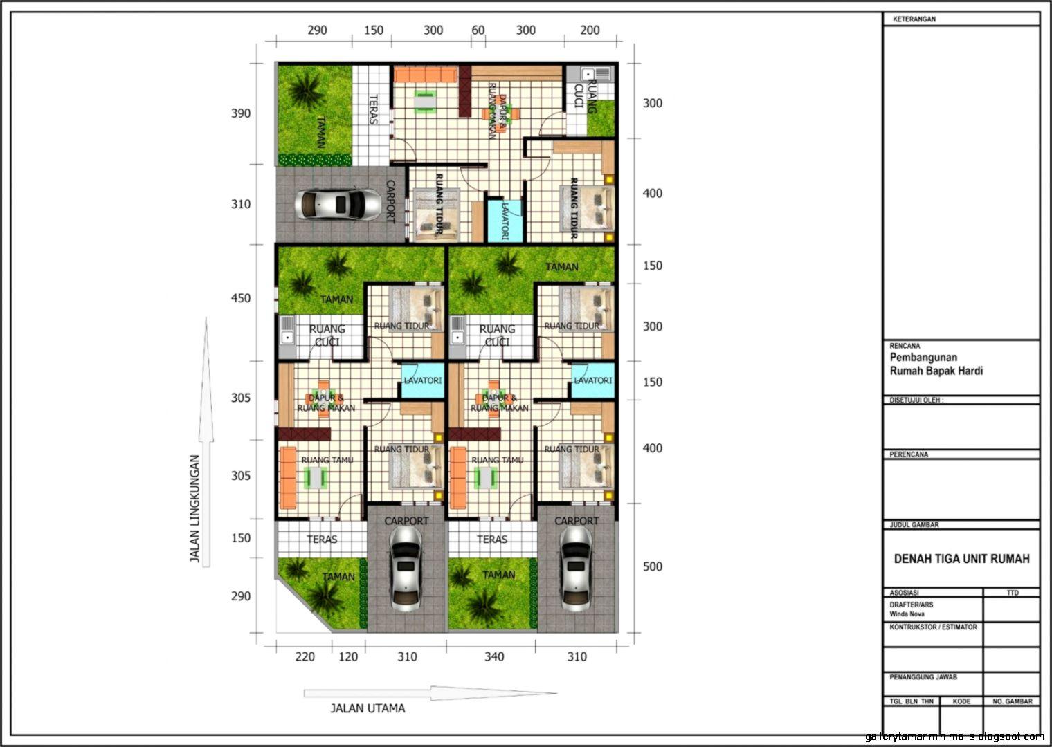 Model Denah Rumah Minimalis Gallery Taman Minimalis