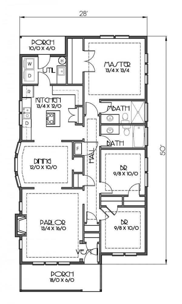 Planos de casas modelos y dise os de casas planos de for Planos casas una planta 3 dormitorios