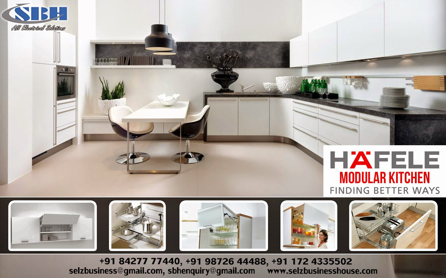 Selz Business House A Kitchen For Every Need Hafele Modular Kitchen