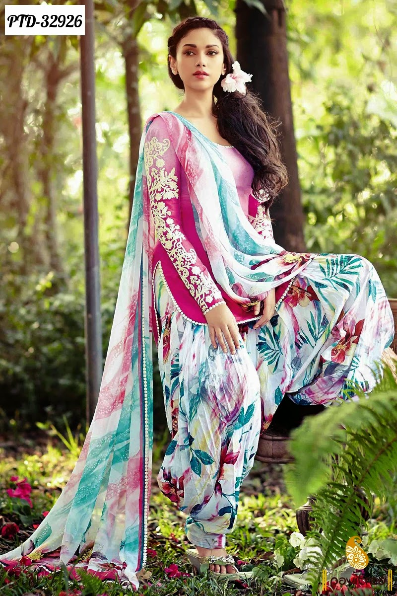 Casual Patiala Salwar Suits And Dresses Women Clothing