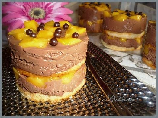 dacquoise sans gluten chocolat mangues