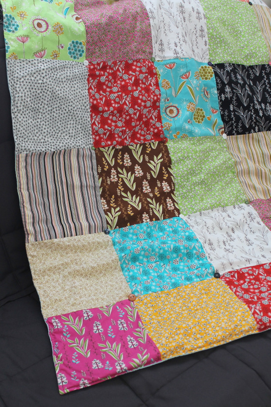 Sew Chatty: {Sewing Room Update: Quilted Throw & Pillow Covers}