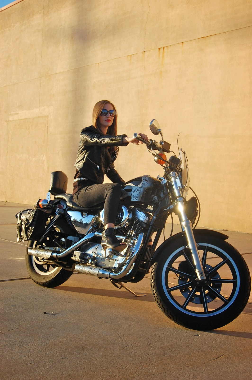 Sons of Anarchy Gemma Teller Costume, H&M Studded Faux Leather Biker Jacket