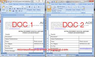 membandingkan 2 dokumen ms word